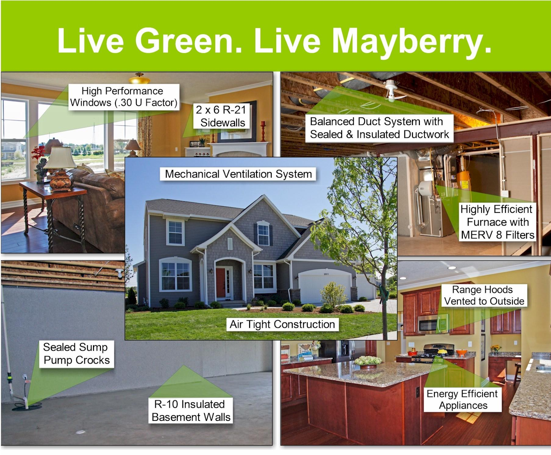 Energy efficient homes in lansing mayberry homes for Most energy efficient home construction